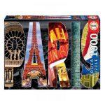 Puzzle 1000 Pcs Colagem de Paris