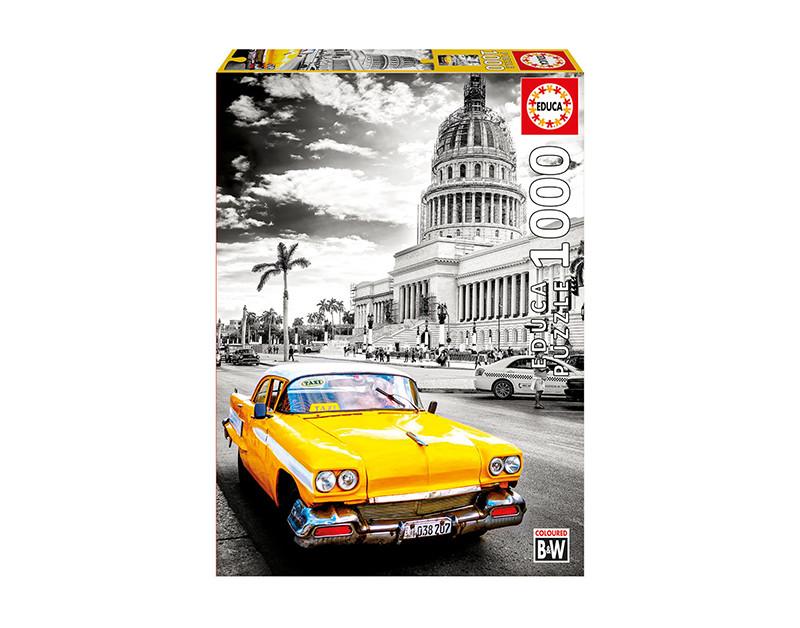 Puzzle 1000 Pcs Táxi em Havana Cuba - O Papagaio Sem Penas