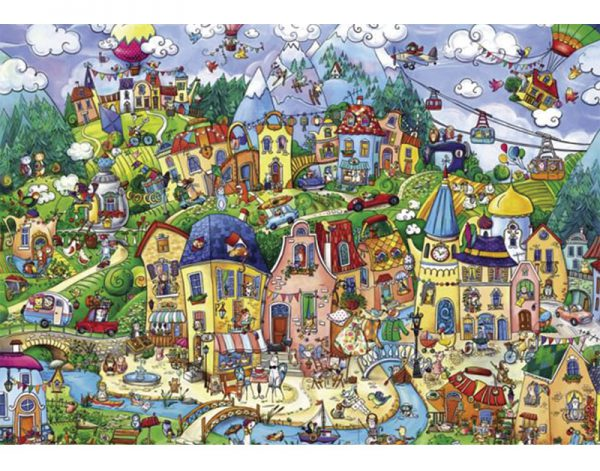 Puzzle 1500 Pcs Berman, Happytown2