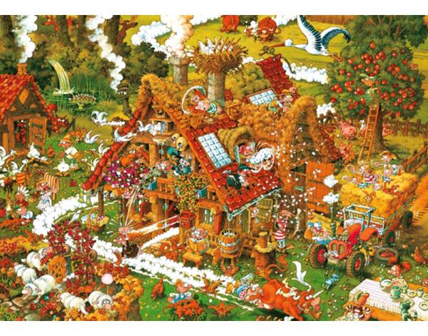 Puzzle 1500 Pcs Ryba, Funny Farm