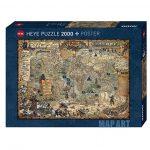 Puzzle 2000 Pcs Map Art Pirate World