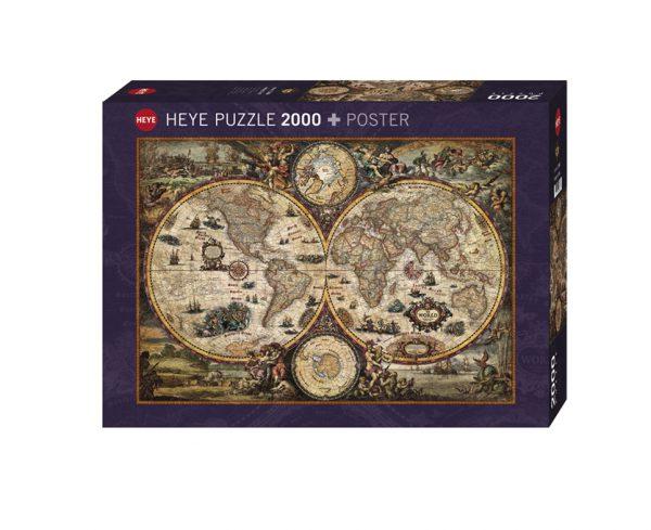 Puzzle 2000 Pcs Mapa Mundo Antigo