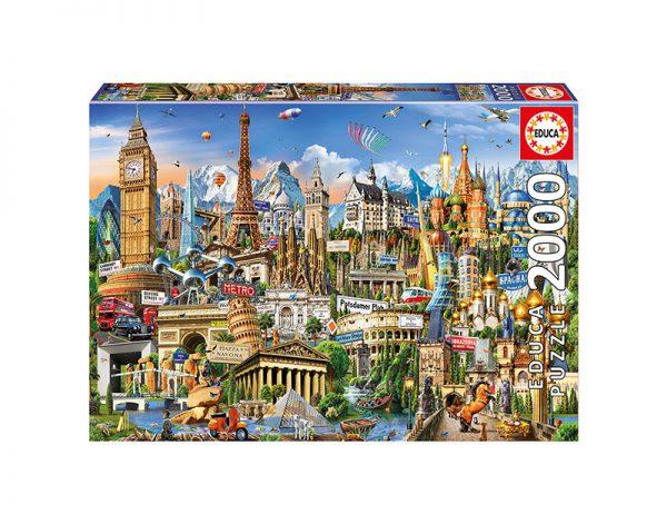 Puzzle 2000 Pcs Símbolos da Europa