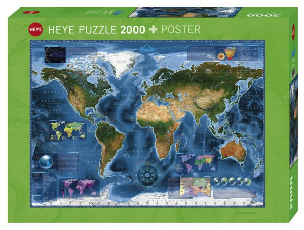 Puzzle 2000 Pcs Zigic Satellite Map