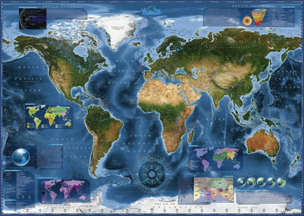 Puzzle 2000 Pcs Zigic Satellite Map2