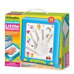 Thinking kits pequena impressão da mão