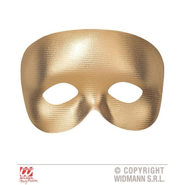 mascara de fantasma dourada