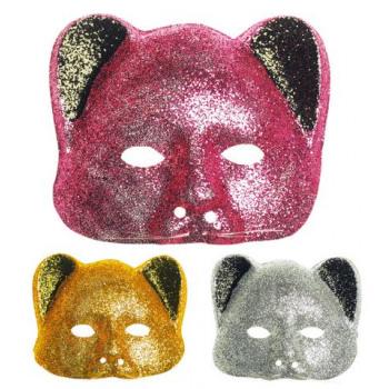 35b28f790b Máscara de gato em Glitter - O Papagaio Sem Penas