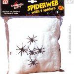 teia de aranha branca c 5 aranhas 100grs
