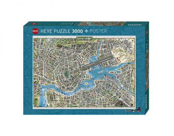 Puzzle 3000 Pcs KVH, City of Pop