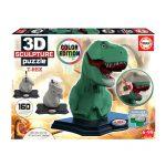Puzzle 3D Escultura T-Rex pcolorir