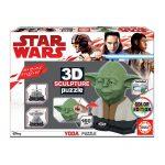 Puzzle 3D Escultura Yoda pcolorir