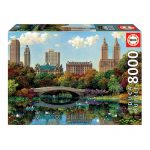 Puzzle 8000 Pcs Central Park Bow Bridge