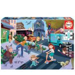 Puzzle-100-Pcs-Na-Cidade-EDUCA-18605
