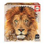 Puzzle-367-Pcs-Leão-Animal-Face-Shaped-EDUCA-18653-a