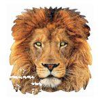 Puzzle-367-Pcs-Leão-Animal-Face-Shaped-EDUCA-18653-b