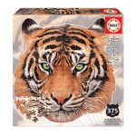 Puzzle-375-Pcs-Tigre-Animal-Face-Shaped-EDUCA-18475-a