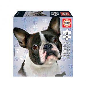 Puzzle de 100 peças com a imagem dum Bulldog Francês