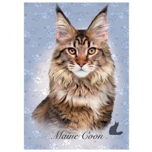Puzzle de 100 peças com a imagem dum gato Maine Coon