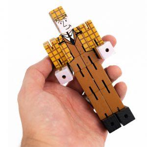 mão a segurar o quebra-cabeças puzzleman Sherlock Holmes