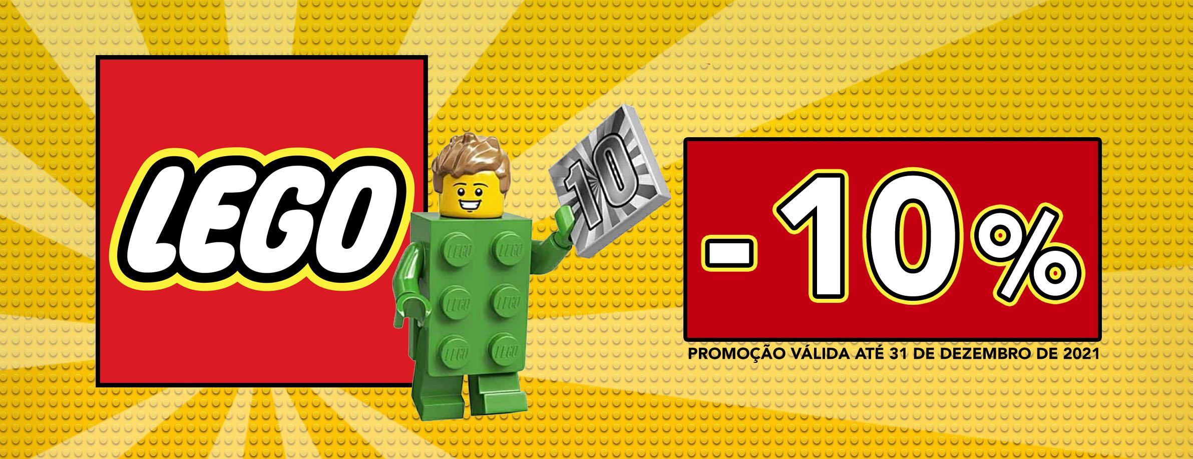 Promoção 10% de desconto em todo o LEGO no nosso site até 31 de Dezembro de 2021