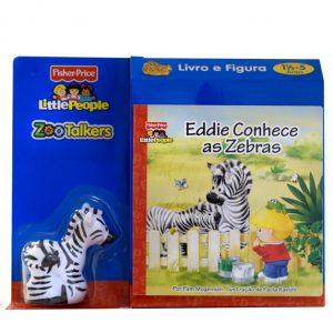 Livro educativo com figura incluída da Fisher Price sobre Zebras.