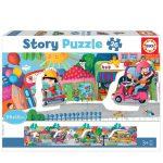 121534-Puzzle-26-Pcs-Story-Veículos-na-Cidade-Educa-18901-cx