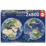 121612-Puzzle-2×800-Pcs-Planeta-Terra-Round-EDUCA-19039