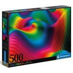 121775-Puzzle-500-Pcs-Colorboom,-Waves-Clementoni-C35093