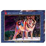 121841-Puzzle-1000-Pcs-Precious-Animals-Night-Wolf-HEYE-HY29939