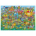 121853-Puzzle-1000-Pcs-Burgerman-Doodle-Village-HEYE-HY29936-