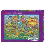 121853-Puzzle-1000-Pcs-Burgerman-Doodle-Village-HEYE-HY29936