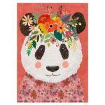 121839-Puzzle-1000-Pcs-Floral-Friends-Cuddly-Panda-HEYE-HY29954-