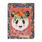 121839-Puzzle-1000-Pcs-Floral-Friends-Cuddly-Panda-HEYE-HY29954